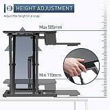(EU EXCLUSIVE) PUTORSEN Standing Desk Converter - 37.4  Height Adjustable Ergonomic Sit Stand Desk Converter Stand Up Desk Riser, Standing up Workstation with Keyboard Tray