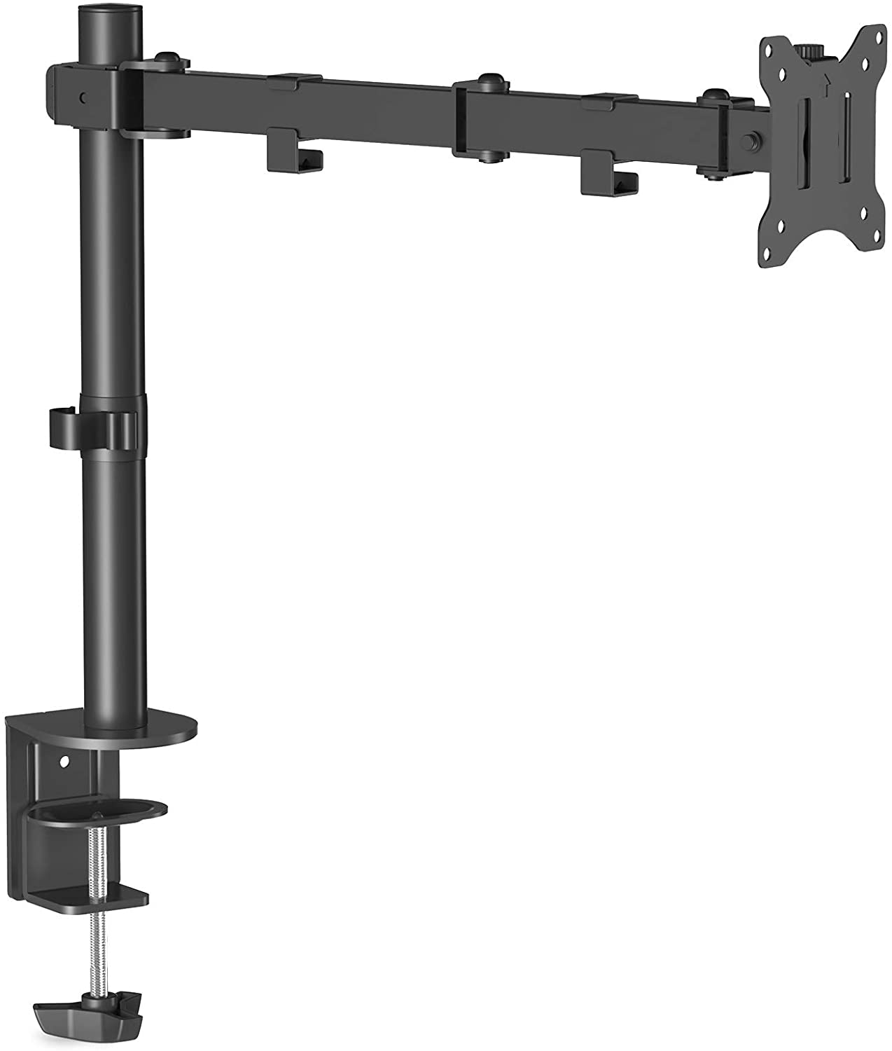 """(EU EXCLUSIVE) PUTORSEN Single Arm Monitor Desk Mount, Ergonomic Height Adjustable Monitor Bracket Stand for 17""""- 32"""" LCD LED Screens, VESA Dimensions 75x75-100x100 mm, Weight Capacity up to 8 kg"""