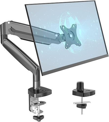 "(EU EXCLUSIVE) PUTORSEN Single Monitor Arm for 13–35""Curved Screens -Height Adjustable Single Monitor Arm Desktop Clamp Mount, 360° Rotatable Monitor Mount, 135° Tilt,180°Swivel,  VESA :75 x 100mm,Weight max 12kg"