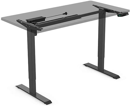 (EU EXCLUSIVE)PUTORSEN® ES12B Height Adjustable Electric Standing Desk Frame Two-Stage Heavy Duty Steel Stand up Desk with Automatic Memory Smart Keyboard (Frame Only-Black)