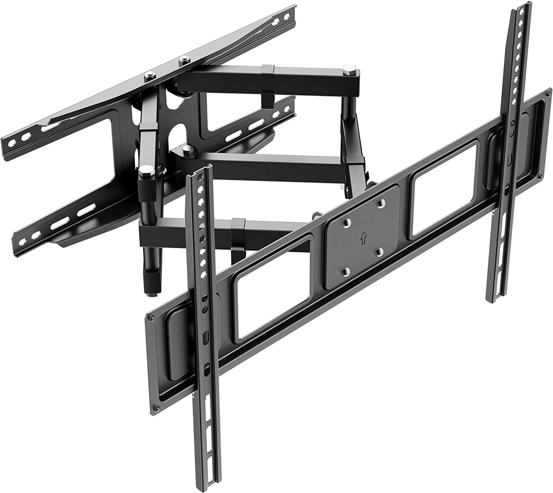 (EU EXCLUSIVE) PUTORSEN TV Wall Mount Swivelling Tilting TV Bracket for 37-80 Inch TVs Flat & Curved LCD/LED Full Motion - 40 kg Load Capacity, Max VESA 600 x 400 mm