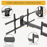 (EU EXCLUSIVE) PUTORSEN 1015 mm Long Arm TV Wall Mount Swivelling Tilting TV Bracket for 43-80 Inch Flat & Curved TV or Monitor up to 50 kg, VESA 200 x 200 - 800 x 400 mm