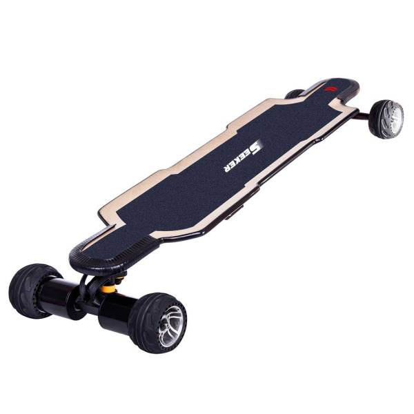 Seeker Pro 2 VESC6.0 Based 50KM/H Speed 30KM Rang 2x1000W FOX Motor Direct Drive Electric Skateboard