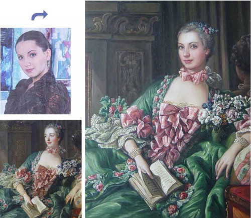 Custom oil portrait, paint face on famous history painting, Hand painted oil painting, unique portrait from photos