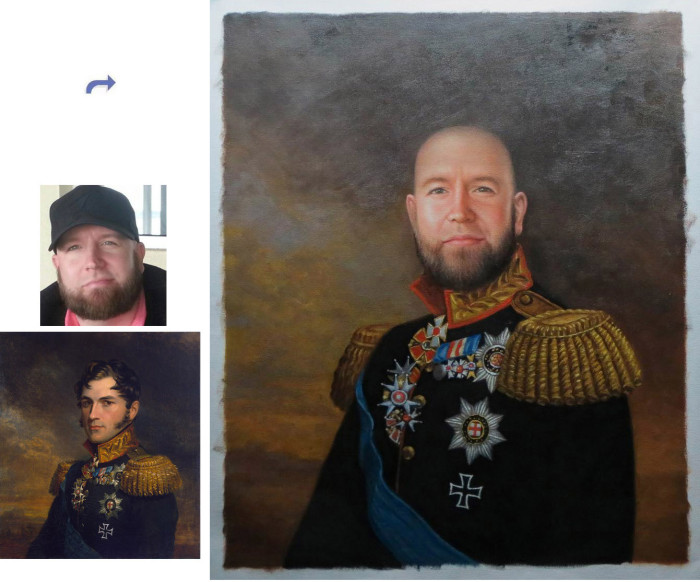 Custom oil portrait, Hand painted oil painting, Photos into portrait painting, unique portrait from photos