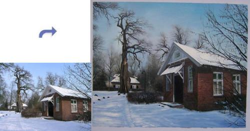 Custom house portrait, House painting, Hand painted oil portrait painting, Building portrait from photos