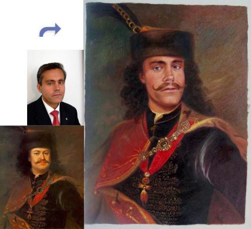 Custom oil portrait, paint face on famous history painting, Handmade oil painting, portrait painting from photos