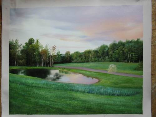 Custom landscape portrait, Landscape painting, Hand painted oil painting, Oil portrait painting from photos