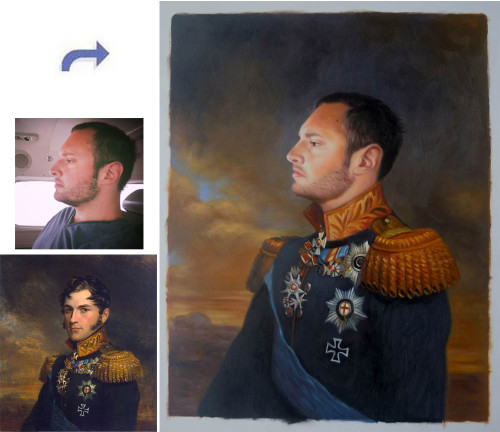 Custom oil portrait, Hand painted oil painting, paint face on famous painting, portrait painting from photos