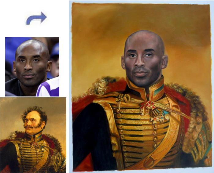 Custom oil portrait, Hand painted oil painting, paint face on famous painting, portrait painting from photos