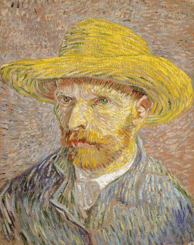 Self-Portrait with Straw Hat, Paris, Winter 1887/88, Metropolitan
