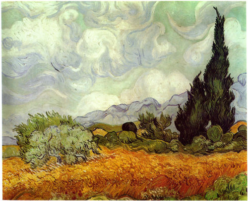 Wheat Field with Cypresses, 1889, National Gallery, London
