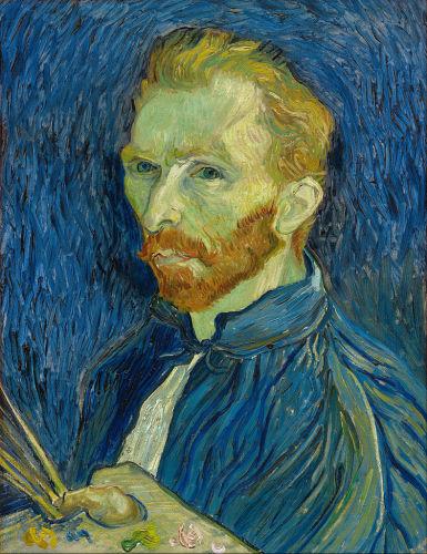 Self-portrait, 1889, National Gallery of Art. His Saint-Rémy self-portraits