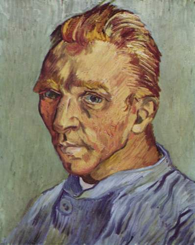 Self-portrait without beard, late September 1889, private collection
