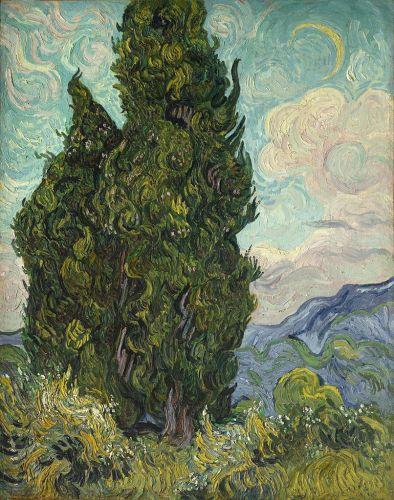 Cypresses, 1889, Metropolitan Museum of Art, New York