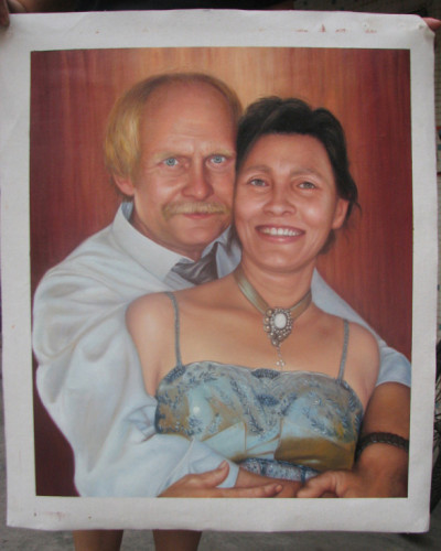 Custom Wedding portrait, Hand painted oil painting on canvas, Turn photos into oil portraits paintings