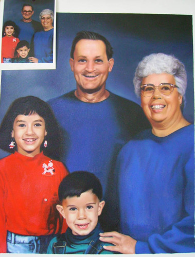 Custom family portrait, Hand painted oil painting on canvas, Turn photos into oil portraits paintings