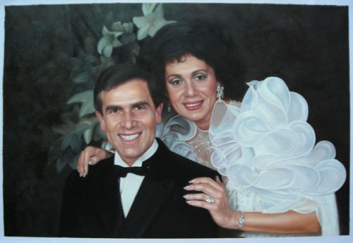 Custom Couple portrait, Hand painted oil painting on canvas, Turn photos into oil portraits paintings