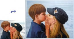 Custom oil portrait, Family portrait, Hand painted oil painting on canvas, portrait painting from photos