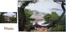 Custom landscape portrait, Landscape painting, Hand painted oil painting, Oil portrait painting from photos
