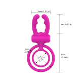 Vibrating Rabbit Penis Ring(2 Sets)