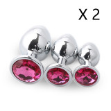 Stainless Steel Metal Butt Plug (M)(2 Sets)