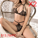 Bra & Crotchless G-String Set(2 Sets)