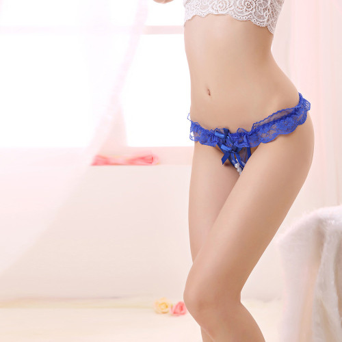 Pearl Massage Lace T Panties(2 Sets)