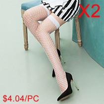 Lace Stockings Long Tube Sexy Fishnet Socks(2 Sets)