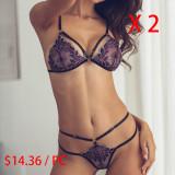 Purple lace underwear set