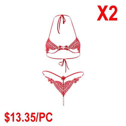 Pink heart-shaped bra