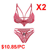 Red Lace Sexy Underwear(2 Sets)