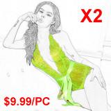 Fluorescent sexy underwear(2 Sets)