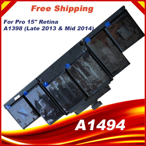 95Wh 11.26V A1494 Battery For Apple Macbook Pro 15  Inch Retina A1398 Late 2013 Mid 2014 MGXC2 MGXA2 ME293 ME294