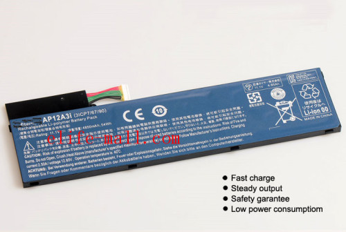 11.1V 4850mAh  New Battery AP12A3i For Acer Iconia W700 Aspire Timeline Ultra U M3-581TG M5-481TG AP12A3i AP12A4i 54WH