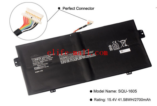 SQU-1605 Laptop battery For ACER Swift 7 S7-371 SF713-51 For ACER Spin 7 SP714-51 41CP3/67/129 15.4V 41.58WH/2700mAh