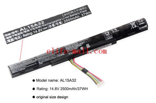 AL15A32 Laptop Battery For Acer Aspire E5-422G 472 E5-473 E5-473G E5-522 522G E5-532 E5-532T E5-573G E5-553G V3-574G