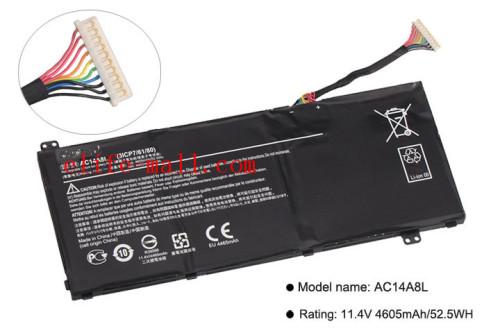 New AC14A8L Laptop Battery For Acer Aspire VN7-571 VN7-571G VN7-591 VN7-591G VN7-791G KT.0030G.001 11.4V 4605mAh