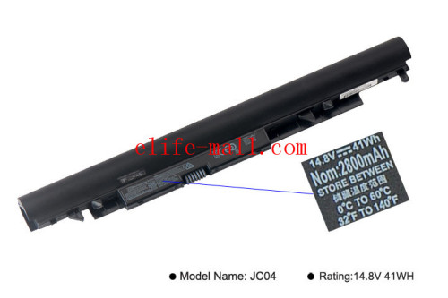 14.8V 41.4wh JC04 Laptop Battery For HP 15-BS 15-BW 17-BS SERIES HQ-TRE71025 HSTNNHB7X TPN-C130 919701-850