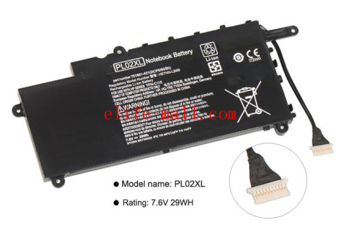PL02XL New Battery for HP Pavilion 11 X360 11-n010dx 11-n000snx 11-N014TU 11-N030TU 751681-421 HSTNN-LB6B HSTNN-DB6B