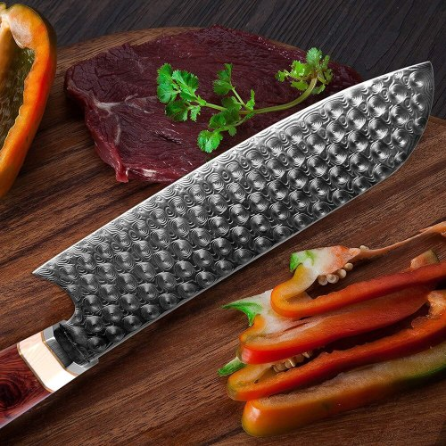 Chef Knife Damascus Steel 110 Layer Slice Knife Meat Cleaver Kiritsuke Nakiri Santoku Sharp Beautiful Home Cooking Knives