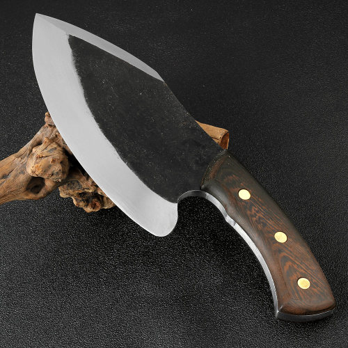 Super large knife Handmade Knife 1185 g 9 inch Hotel Kitchen Butcher Special Knife High Manganese Steel Forging Chef Tools