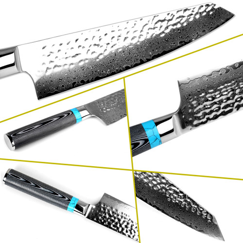 Highquality Damascus Knife 8  inch VG10 Blade Damascus Steel Knife 67 Layers Japanese Chef Santoku Cleaver Meat knife Gift