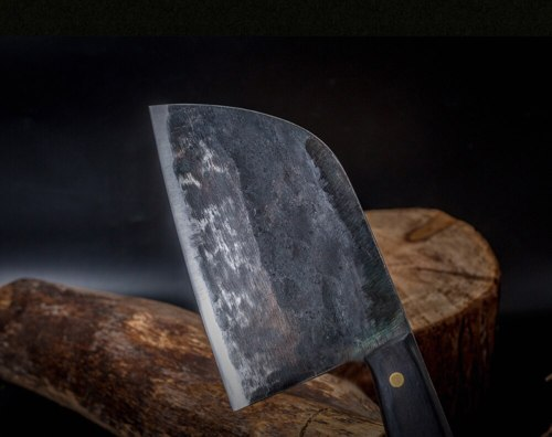Full Tang Chef Knife Handmade Forged High-carbon Clad Steel Kitchen Knives Cleaver Filleting Slicing Broad Butcher knife