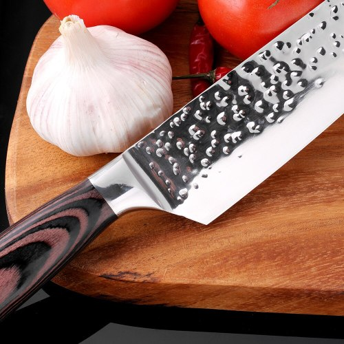 New Chef Knives 8 inch Handmade Forged 7Cr17Mov Stainless Steel Sharp Kitchen Knife Santoku Filleting Cleaver Slicing Tool