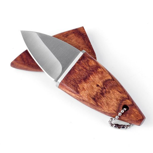 Chef Pocket Knife Mini Kitchen Paring Straight Knife Olive Wood Handle +knife sheath Cleaver Peeling Vegetable Utility Kni
