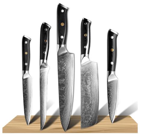 Damascus Chef Knife Damascus Steel Japan Sankotu Cleaver Knife Cut Meat Utility Kiritsuke Fruit Kitchen Knife Cooking Tool