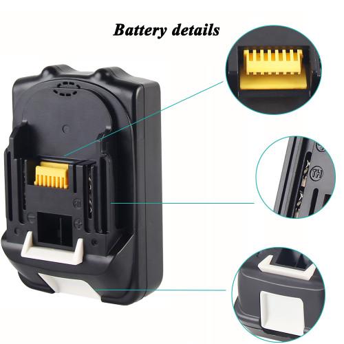 For Makita 18V Li-ion Power Tools Batteries BL1830 BL1835 BL1815 BL1850 BL1860  BCS550 BML184