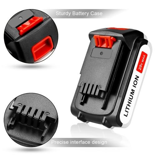 20V 18V Li-Ion Battery for Black & Decker LBXR20 LB20 LBX20 ASL186K BDCDMT120 CHH2220 LD3K220 LPP120 LST120