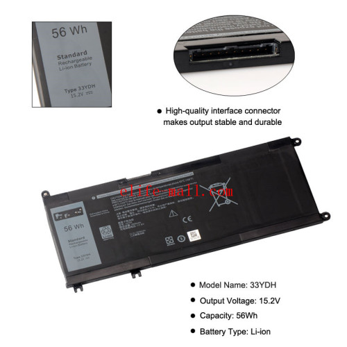 33YDH Laptop Battery For Dell Inspiron 17 7778 7779 7773 15 7577 G3 15 3579 5587 17 3779 7588 P30E Series